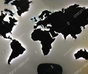 Dünya Haritası Tabelası